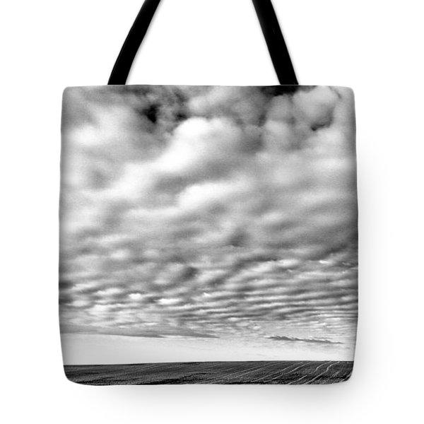 Clouds Over A North Dakota Field Tote Bag