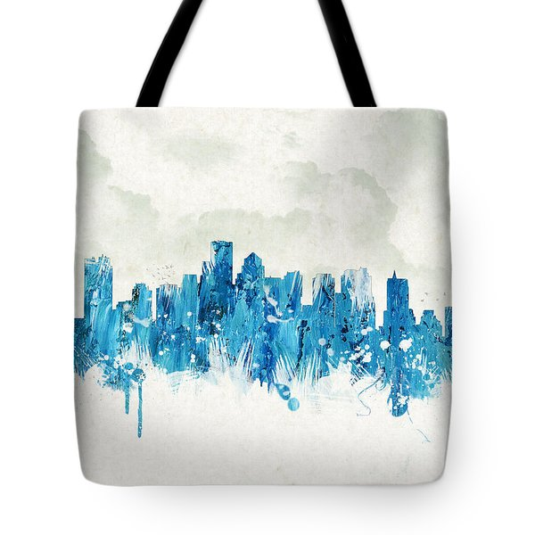 Clouds Over Boston Massachusetts Usa Tote Bag by Aged Pixel