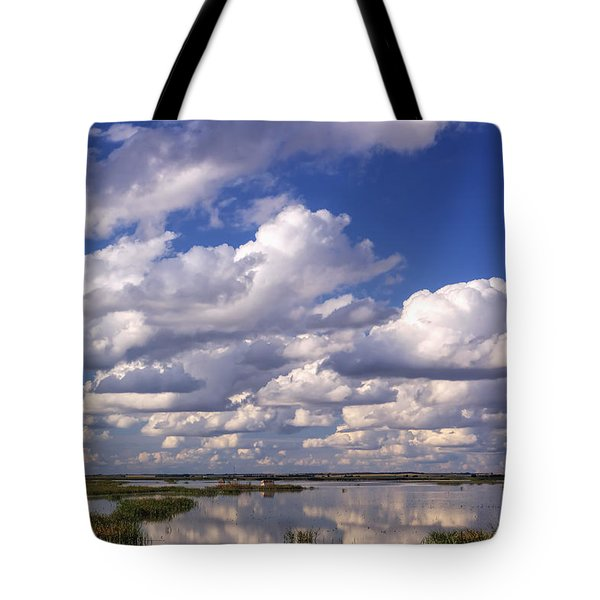 Tote Bag featuring the photograph Clouds Over Cheyenne Bottoms by Rob Graham