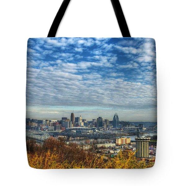Clouds Over Cincinnati Tote Bag