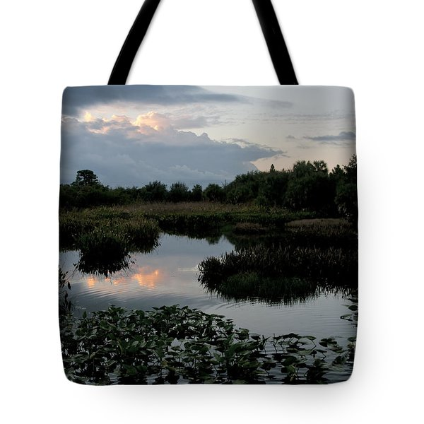 Clouds Over Green Cay Wetlands Tote Bag by Mark Newman