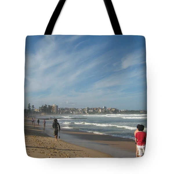 Tote Bag featuring the photograph Clouds Over Manly Beach by Leanne Seymour
