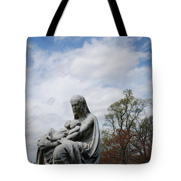 Clouds Over Mother And Twins Tote Bag by Jennifer Ancker