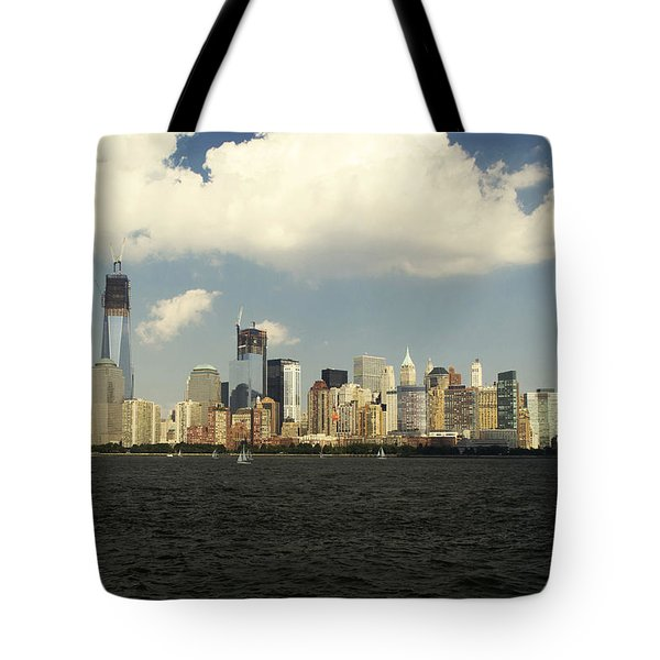 Clouds Over New York Skyline Tote Bag