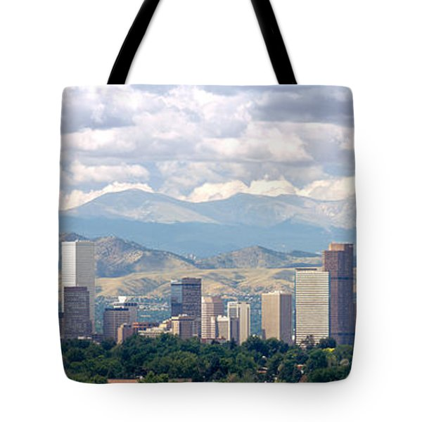 Clouds Over Skyline And Mountains Tote Bag