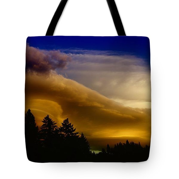 Clouds Over Southern Alberta Tote Bag by Jeff Swan