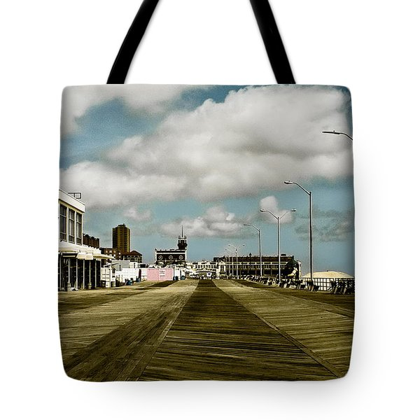 Clouds Over The Boardwalk Tote Bag