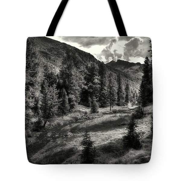 Clouds Over The Mountainscape Tote Bag