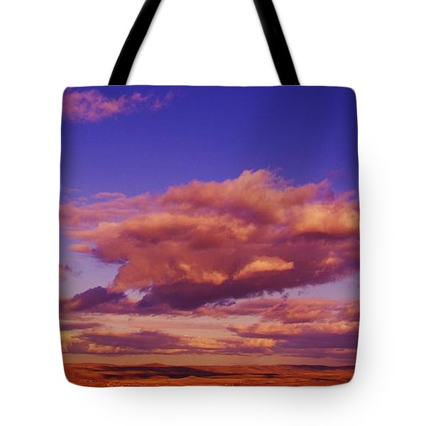 Clouds Over The Wenas Valley Tote Bag