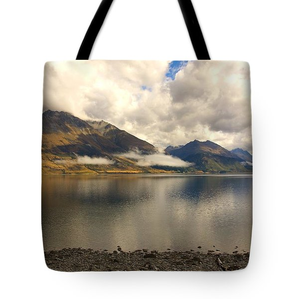 Tote Bag featuring the photograph Clouds Over Wakatipu #1 by Stuart Litoff