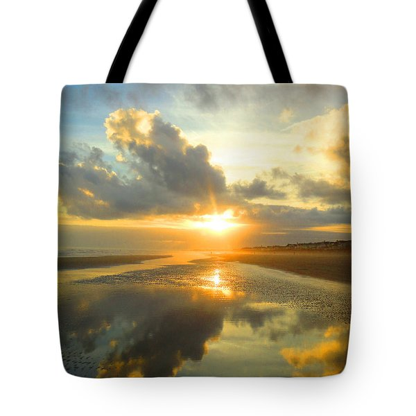 Clouds Reflection By Jan Marvin Tote Bag