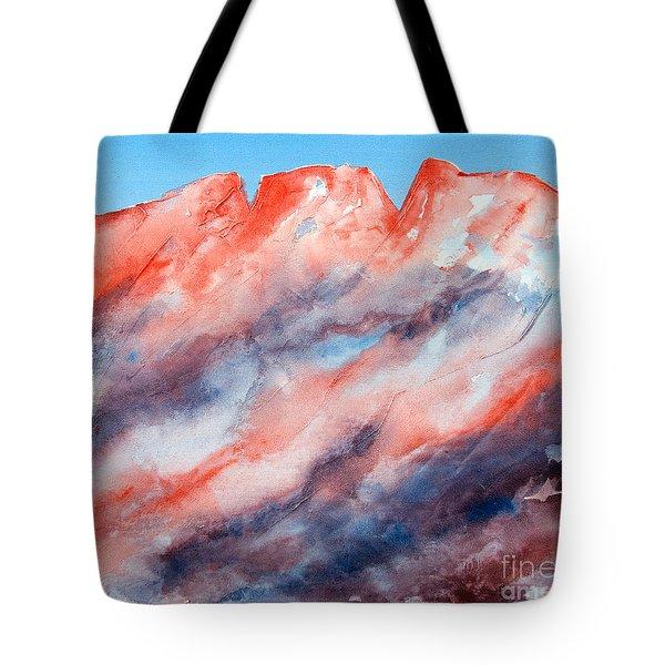 Clouds Roll In Tote Bag