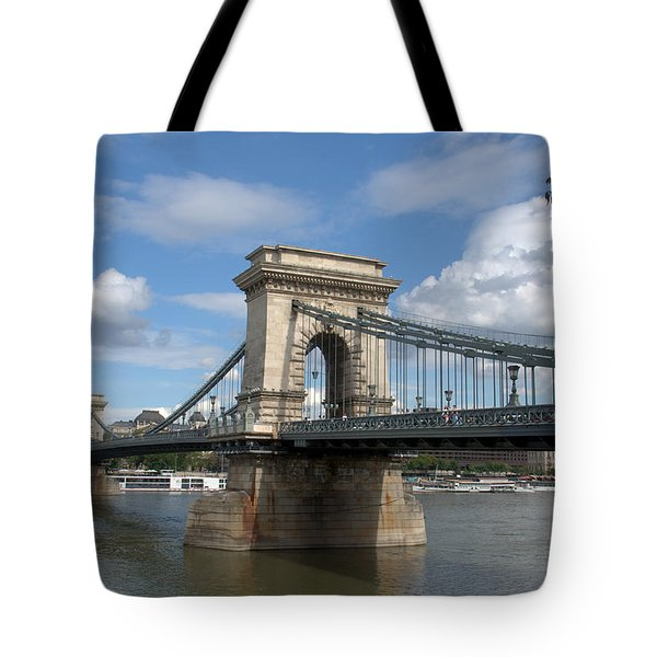 Clouds Sky Water And Bridge Tote Bag