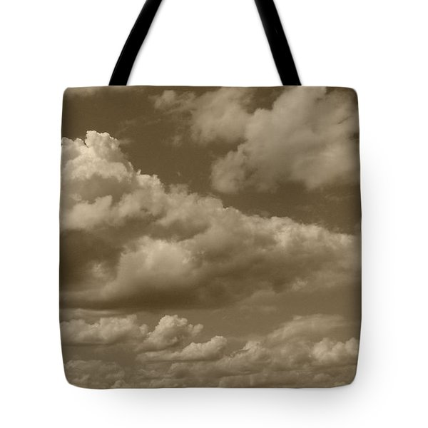 Cloudscape In Sepia Tote Bag by Suzanne Gaff