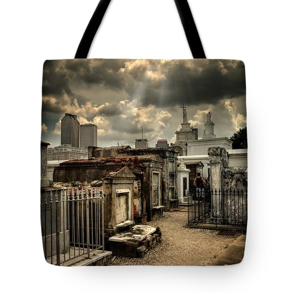Cloudy Day At St. Louis Cemetery Tote Bag