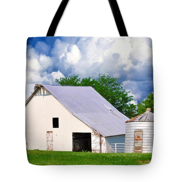 Cloudy Day In The Country Tote Bag by Liane Wright