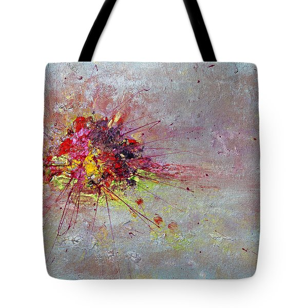 Cloudy Monday Abstract Painting Tote Bag