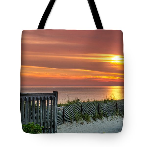 Tote Bag featuring the photograph Sandy Neck Beach Sunrise by Mike Ste Marie