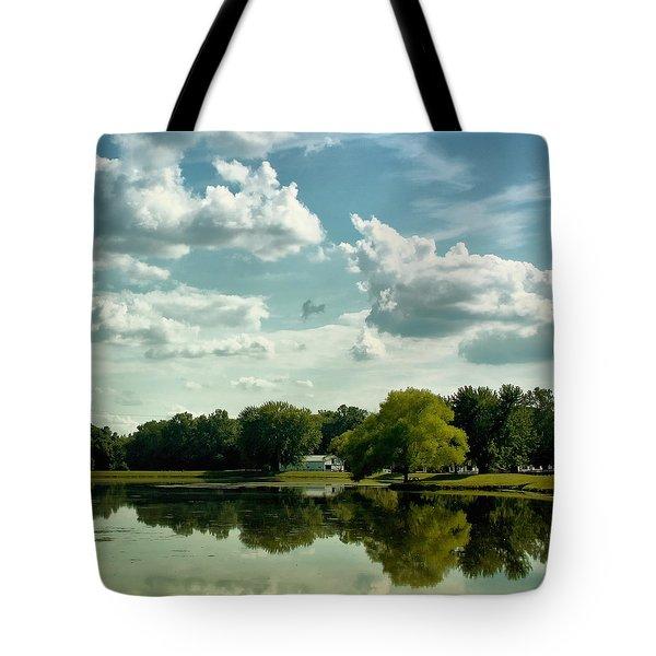Cloudy Reflections Tote Bag by Kim Hojnacki