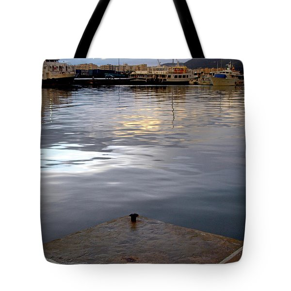 Cloudy Sunset At Sport Port Marina Tote Bag