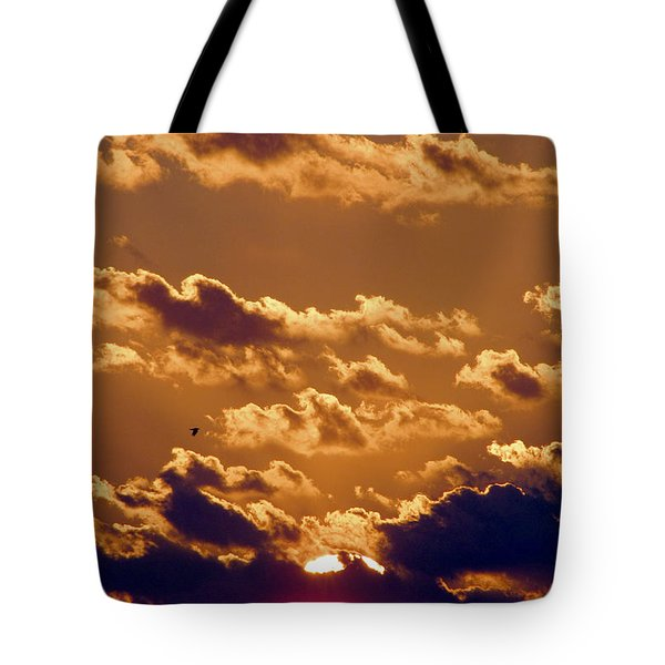 Key West Cloudy Sunset Tote Bag