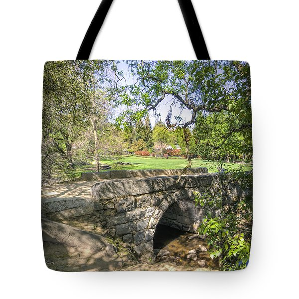 Clover Valley Park Bridge Tote Bag