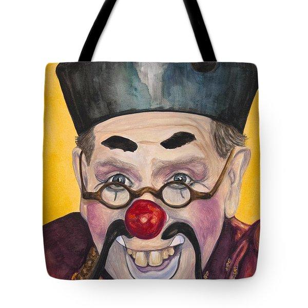 Watercolor Clown #15  Bill Gillespie Tote Bag