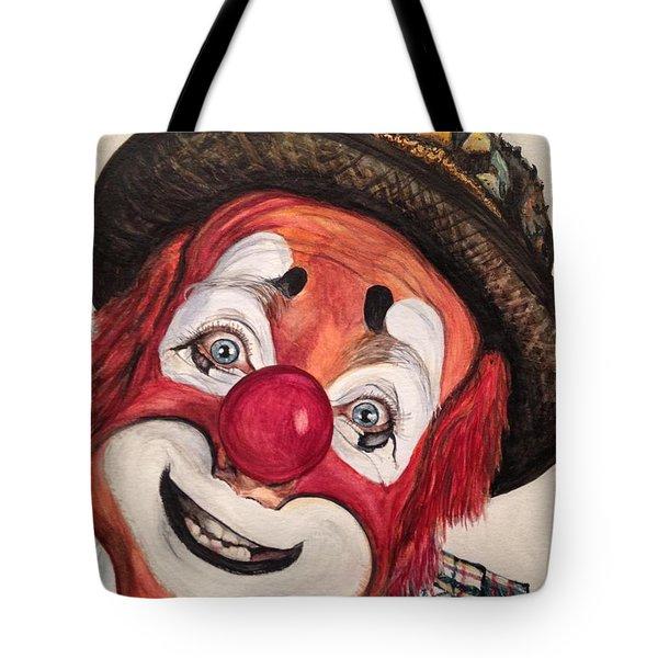 Watercolor Clown #14 Jonathan Freddes Tote Bag