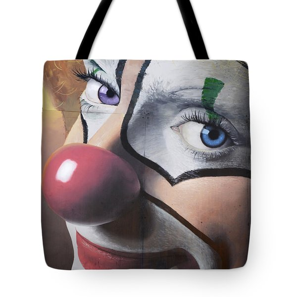 Clown Mural Tote Bag by Bob Christopher