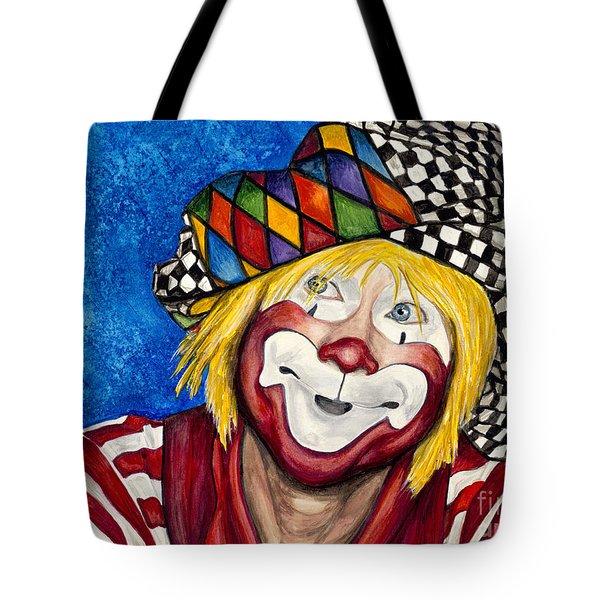 Watercolor Clown #16 Ron Maslanka Tote Bag