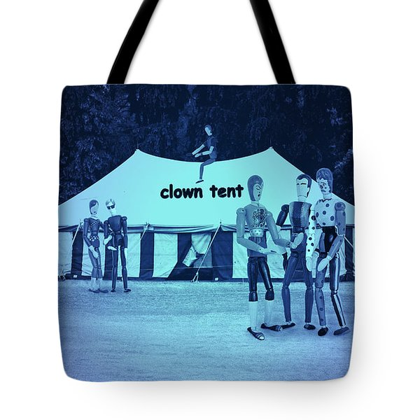Tote Bag featuring the photograph Clown Tent by Nareeta Martin
