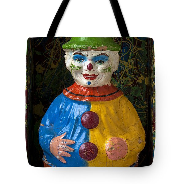 Clown Toy In Box Tote Bag by Garry Gay