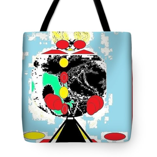 Tote Bag featuring the digital art Clowning Around by Ann Calvo