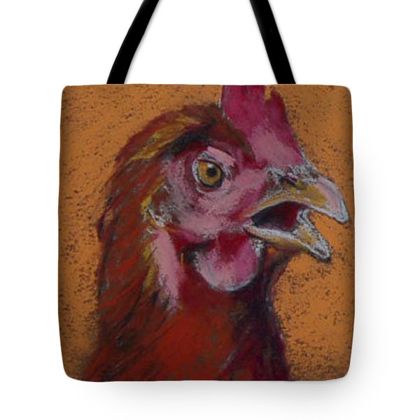 Tote Bag featuring the painting Cluck by Pattie Wall