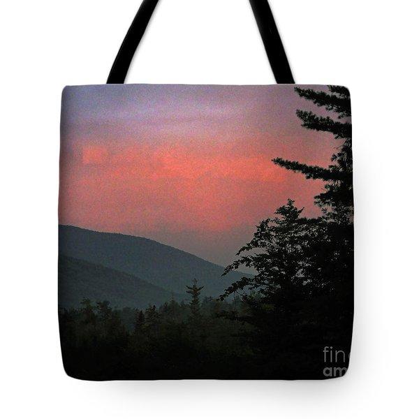 Clucks West Ossipee Mountain Sundown Tote Bag