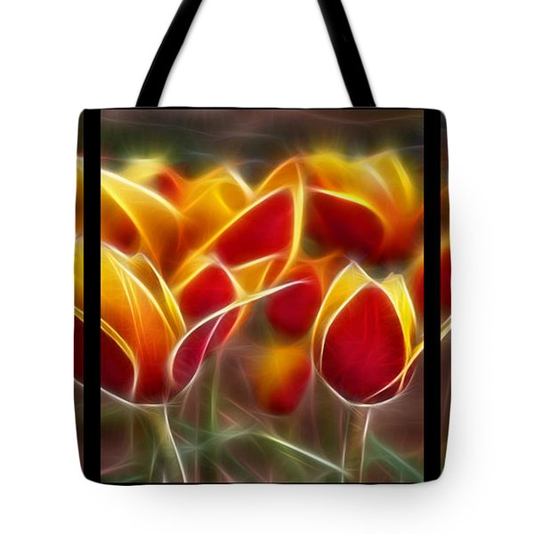 Cluisiana Tulips Triptych  Tote Bag by Peter Piatt