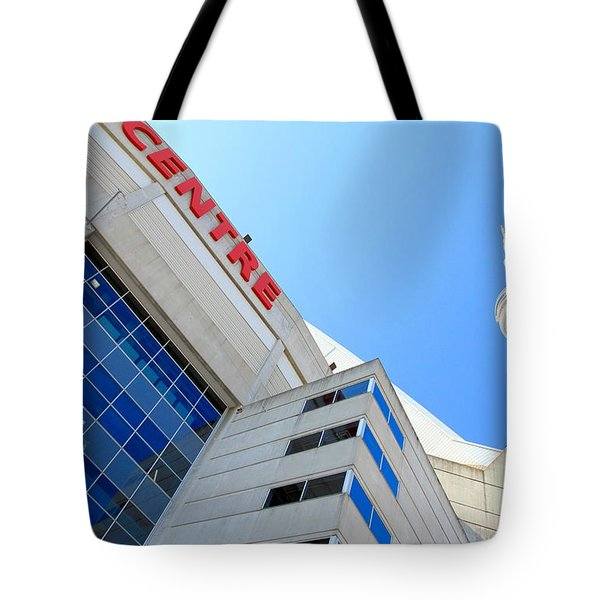 Cn Tower And Rogers Centre Tote Bag by Valentino Visentini