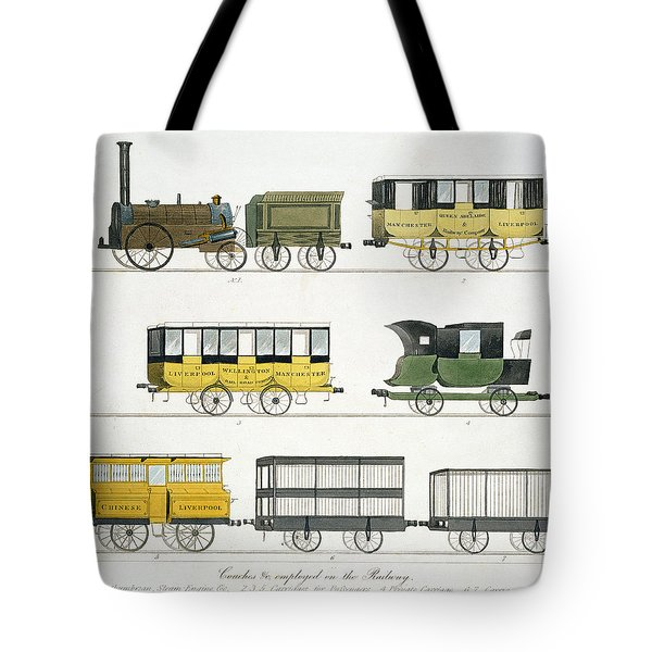 Coaches Employed On The Railway, Plate Tote Bag