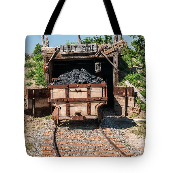 Tote Bag featuring the photograph Coal Cart Leaving The Mine by Sue Smith