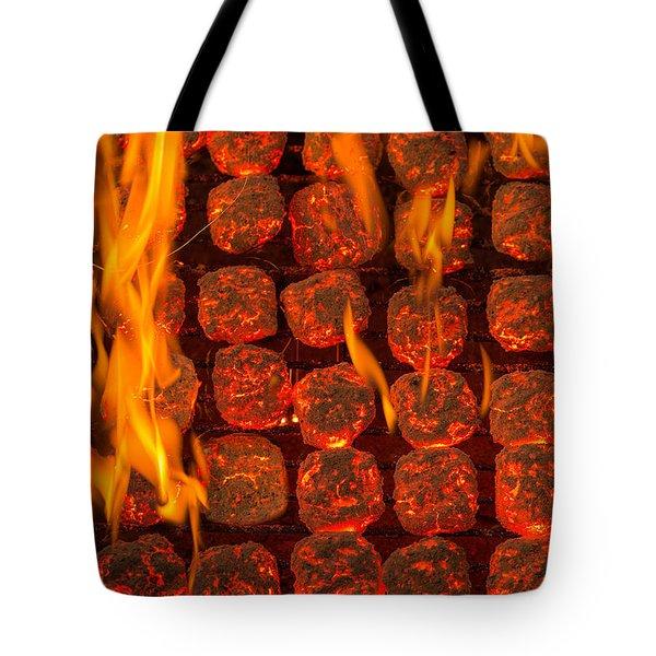 Coal Fire Tote Bag