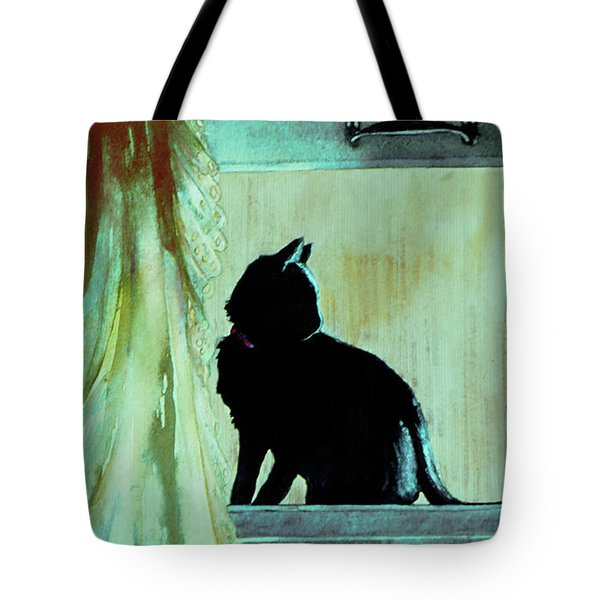 Tote Bag featuring the painting Coaly by Jill Westbrook