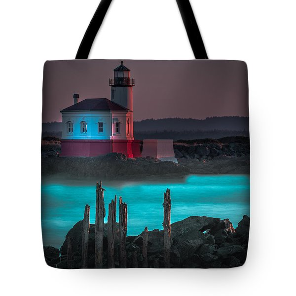 Coaquille Lighthouse Tote Bag