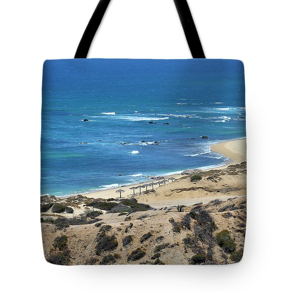 Tote Bag featuring the photograph Coast Baja California by Christine Till