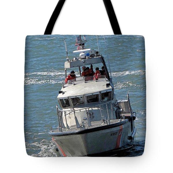 Coast Guard At Depot Bay Tote Bag