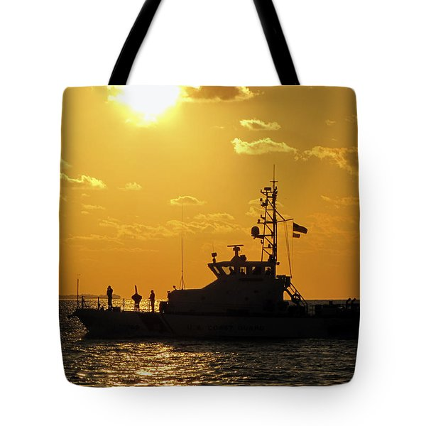 Coast Guard In Paradise - Key West Tote Bag