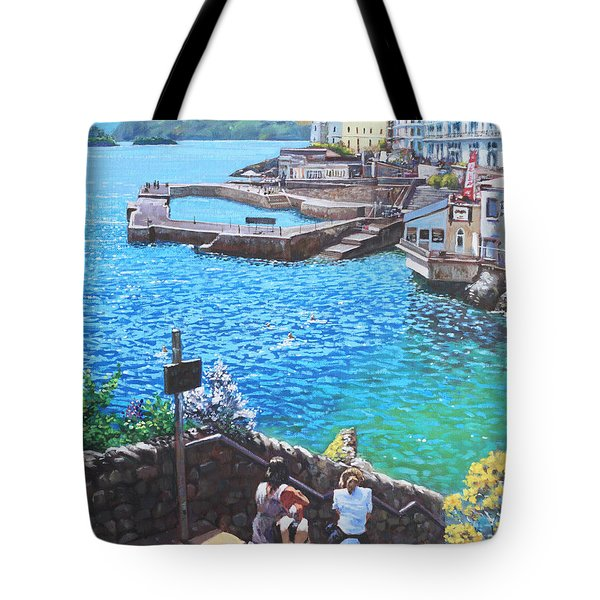 Coast Of Plymouth City Uk Tote Bag