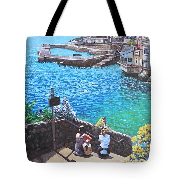Coast Of Plymouth City Uk Tote Bag by Martin Davey