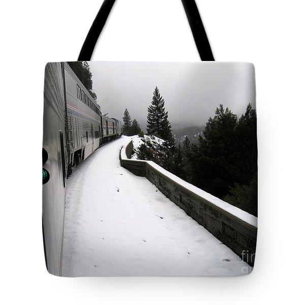 Coast Starlight In The Mountains Tote Bag