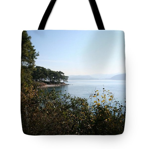Tote Bag featuring the photograph Coast by Tracey Harrington-Simpson