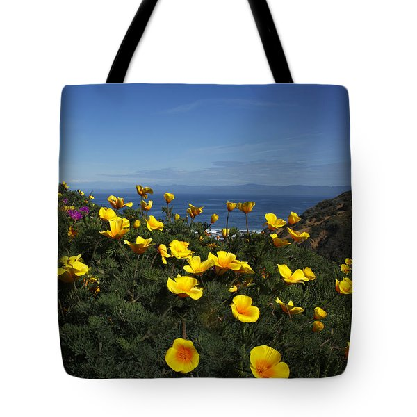 Tote Bag featuring the photograph Coastal California Poppies by Susan Rovira